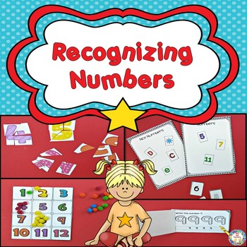 Recognizing Numbers  1-12 ~ Center Activities and Worksheets
