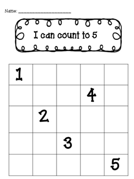 Recognizing Numbers and Counting: I Can Count to Five