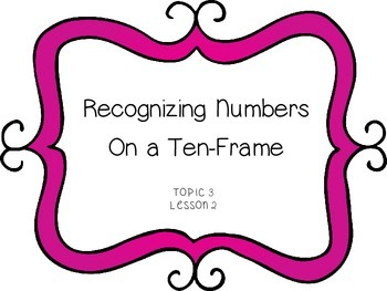 Recognizing Numbers on a 10-Frame -First Grade enVision Math