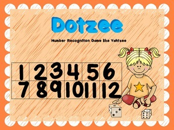 Recognizing Numbers to 12 Game -Dotzee