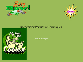 Recognizing Persuasive Technique PPT