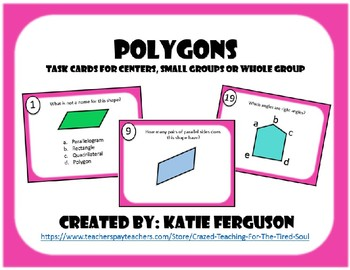 Recognizing Polygon Attributes- Task Cards