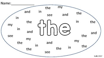 Recognizing Sight Words
