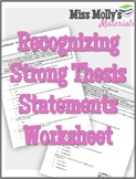 Recognizing Strong Thesis Statements - No Red Ink Aligned