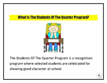 Recognizing Students Of The Quarter