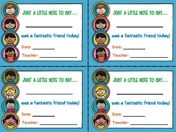 Recognizing Students with Take-Home Notes (Freebie)