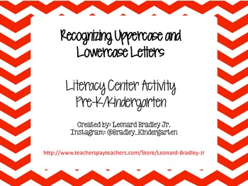 Recognizing Upper and Lowercase Letters Center