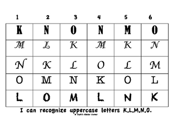 Recognizing Uppercase Letters K_O