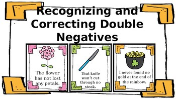 Recognizing and Correcting Double Negatives in Sentences