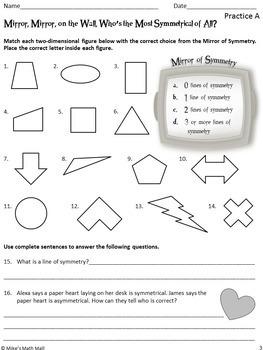 Recognize a Line of Symmetry - (Mini-Bundle)