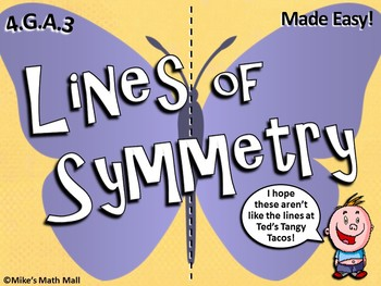 recognize a line of symmetry powerpoint only