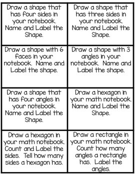 Recognizing and Drawing Shapes: Math Notebook CCS 2.G.A.1