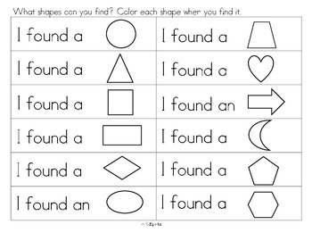Shapes - Recognizing and Naming 12 Shapes