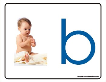 Montessori Recognizing first sound, big pictures. A to Z. Print