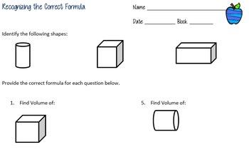 Recognizing the Correct Formula