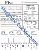 Recognizing, tracing and counting number words 1-10