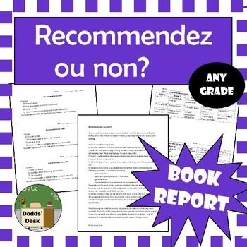 Recommandez ou non? Book report