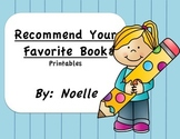 """Recommend a book to a Friend"" Printables"
