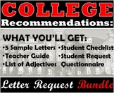 Recommendation Letter Request Bundle: Ideal for College Requests