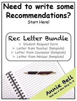 Recommendation Letter - Samples and Request Form