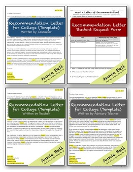 College Recommendation Letter Samples From Teacher from ecdn.teacherspayteachers.com