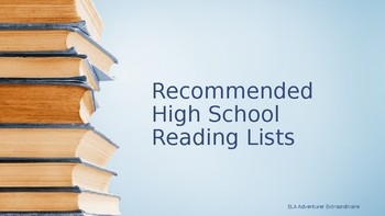 Recommended High School Reading List
