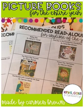 Recommended Picture Books to Read for the Entire Year