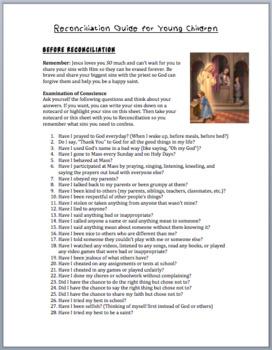 Reconciliation Guide (2nd-5th grade)