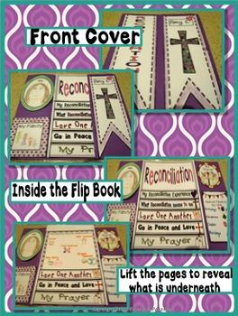 Reconciliation ~ Lap Flip Book, Religious, Sacrament of Forgiveness