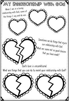 Reconciliation Worksheets ~ Sacrament of Confession ~ Sin ~ Forgiveness