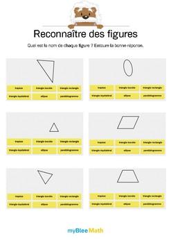 Reconnaître des figures 3 -Retrouver le nom de figures planes