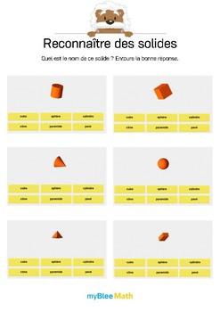 Reconnaître des solides 1 -Quel est le nom de ce solide ?