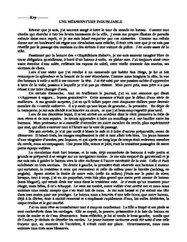 Reconsitute Advanced Reading Text (in French) - Cloze exercise