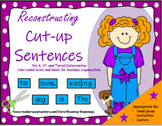 Reconstructing Cut-up Sentences
