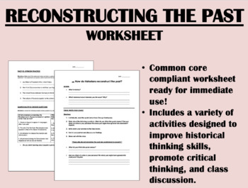Reconstructing the Past - Global/World History Skills - Common Core