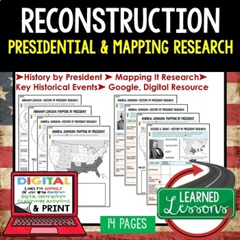Reconstruction, 1865-1877  Presidential Research & Mapping
