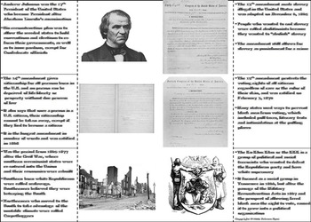 Civil War Reconstruction Era Activity: 15th - 13th Amendment