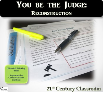 You be the Judge: Reconstruction