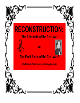 Reconstruction Activity Bundle