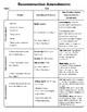 Reconstruction Amendment Chart with Answer Key