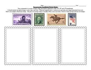 Reconstruction Amendment Postage Stamp