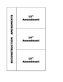 Reconstruction Amendments Worksheets & Teaching Resources   TpT