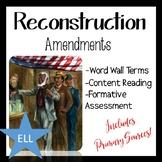 Reconstruction Amendments Activity
