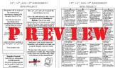 Reconstruction Amendments Brochure Project w/ Rubric - Editable