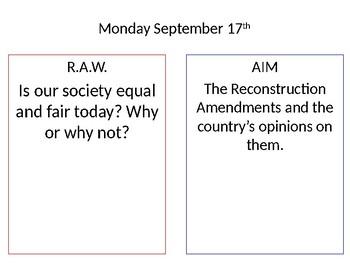 Reconstruction Amendments Presentation