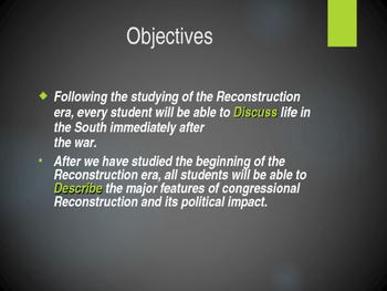 Reconstruction Begins PowerPoint