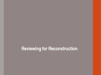 Reconstruction Begins Study Guide- PowerPoint