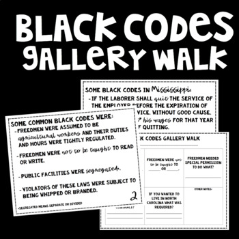 Reconstruction: Black Codes Gallery Walk