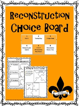 Reconstruction Choice Board