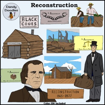 Reconstruction Clip Art by Dandy Doodles